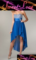 Royal High Low Strapless Sweetheart Dress