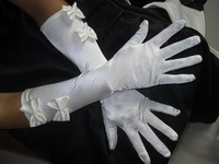 On sale Bridal gloves bridal gloves wedding gloves married gloves pearl embroidery bow