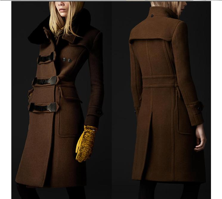 Brown ladies wool coat – Novelties of modern fashion photo blog