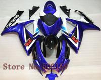 For Suzuki GSXR600 2006 2007 blue   GSXR750 2006 2007 2006 2007 GSXR600/750 06 07 K6  ABS Fairing Set Plastic Kit 01