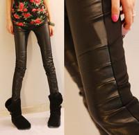 5310 plus velvet 2013 autumn and winter all-match women's patchwork plus velvet thickening legging