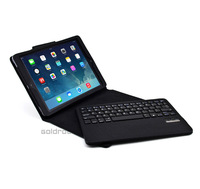 High Quality Luxury Fashion Detachable Wireless Bluetooth 3.0 Keyboard+Leather Stand Case For Apple iPad Air/5 Free Shipping