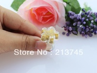 Free ship! 20sets/lot 20*20mm flower Glass Bubble & Ring set DIY glass vial pendant jewelry findings