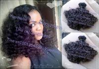 "6A quality 3pcs/lot #1b virgin peruvian afro kinky curl aunty funmi hair free shipping 8""-28"" Mixed length"