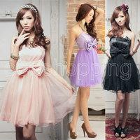 Одежда и Аксессуары Q681 New Ladies Womens Fashion Dimensional Flowers Bridesmaid Prom Party Formal Evening Dresses