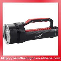 LusteFire DV400 4 x Cree XM-L2 U2 LED Stepless Dimming 5000 Lumens Diving Flashlight (2 x 26650) - Black + Red