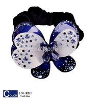 Free shipping,2014 Brand Design Top quality Hair Wear,Acrylic sheet Rhinestone Butterfly Headband Bowknot Hair Rope Accessory