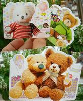 cartoon bear birthday thanks giving festive day post card /cute greeting card  200Pcs/lot wholesale free shipping