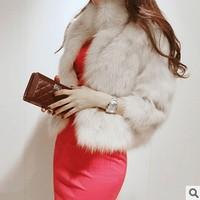 Free Shipping 2014 Winter Warm New Korean Fashion Luxury Quality Overcoats Women's Fur Coats Fur jacket Outerwear coats KR175