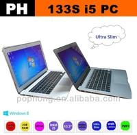 Very Slim 13.3 inch Ultrabook SSD 64G RAM 2G Intel Core i5 Processor Windows 8 Laptop 8000mAh Battery
