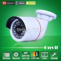 Onvif H.264 2.0 MegaPixel HD 1080P 1920*1080 25fps Newtork IP Camera Waterproof 24 IR Security Camera