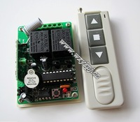 12V 10A 2CH RF Wireless 2CH Multifunctional Relay Module receiver board & 2 Button Remote Control Kit