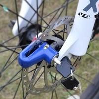 Hot-selling disc bicycle lock bicycle burglar alarm disc lock mountain bike folding bike disc lock black