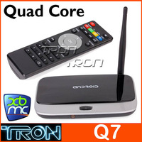 Q7 RK3188T Quad Core  TV BOX with Remote Control CS918 MK888 TV BOX Mini PC 2G Bluetooth V4.0 Ethernet Port  Android 4.2