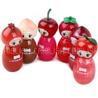 Lingmei Fruit Princess 6 Colors Moisture Bright Lip Gloss 6 Pcs
