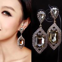 Fashion accessories sparkling crystal luxury sexy big stud earring earrings no pierced