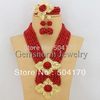 Splendid African Beaded Crystal Jewelry Set African Crystal Beads Jewelry Set for ...