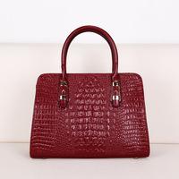 Free shipping high quality new arrival retro leather handbags crocodile pattern leather hand shoulder bag big bag leisure bag di