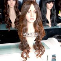F82 New long Brown mix Fashion Wavy hair wig