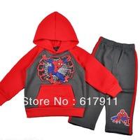 Wholesale lot boy's clothing children outerwear baby boys clothing sets boys spiderman children brand hoodie sweatshirt +pants