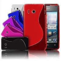huawei Ascend Y300 U8833 case,High Quality New S Line TPU Soft back case for huawei Ascend Y300 U8833