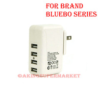 Tracking Code 4 in1 Quad Usb Slot 2A Wall Charger For Bluebo 7100 7102 7105 I9502 B6000 N9000 B9500 B9502 I9500 I9502 Cell Phone
