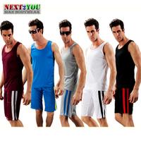 Free Shipping!!-High Quality Sports Sets/ Men Sport Set/ Casual Shorts & Shirts / 5 COLORS (N-212BD)
