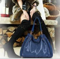 Hot sale!  new fashion composite leather bag/ high quality brand design snake skin shoulder bag/ women messenger bag