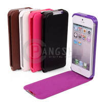 1pcs Luxury Cool Color multi-selection PU Leather Hard Case Cover For all iPhone5 5G 5S Case High Quanlity - Free Shipping