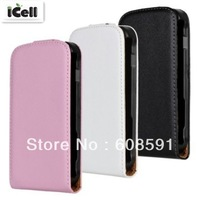High Quality Genuine Flip Leather Case For Samsung Galaxy S Duos S7562  , Real Leather Cover For S7562 ,MOQ:1pcs free shipping