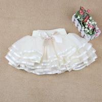 New Fashion Summer Autumn Spring Fall Kids Girls Baby Child Dance Princess Wedding Party Bow Fluffy Tutu Gauze Skirts H0140061