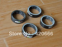 10pcs/lot  wc full carbon fiber Bike Bicycle Cycling Headset Stem washer Spacer  10  mm parts fork cover