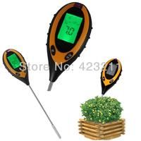 Pro 4 In 1 LCD Temperature Moisture Sunlight PH Garden Soil Tester Meter B0058