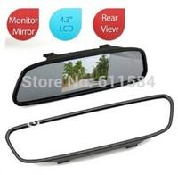 DHL/EMS shipping 20pcs/lot Univeral 4.3'' Inch Color TFT LCD Display Screen Car Parking Rear View Reverse Mirror Monitor Camera