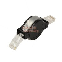Portable Retractable RJ45 Ethernet LAN Internet Network Cable Black P4PM