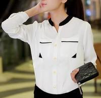 new arrival autumn ladies blouses in 2014 fashion body summer clothes chiffon plus size  blusas femininas tops for women shirts