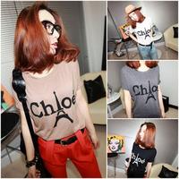 new 2014 t shirt women Paris eiffel tower print t-shirt retro eiffel tower t shirts summer ladies blouses tops for women