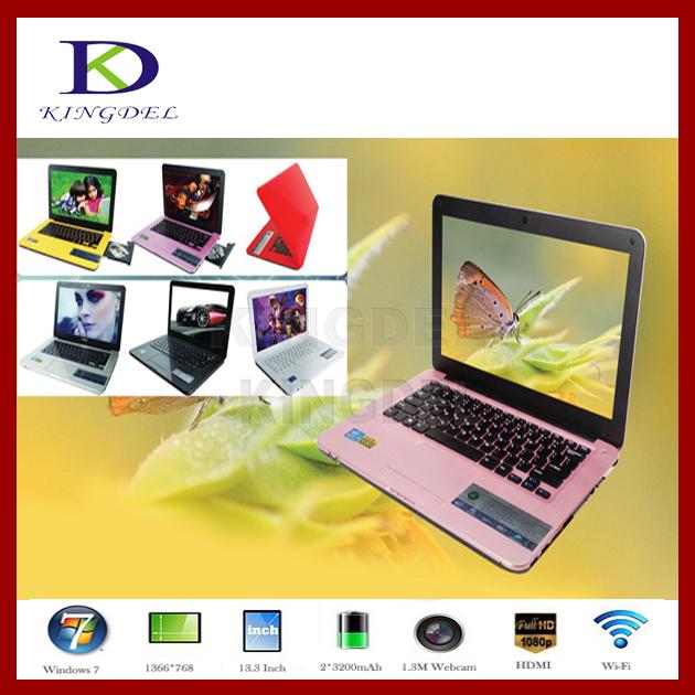 "13.3"" DVD-RW Laptop Notebook pc Intel Atom N2600 Dual Core 1.6Ghz DDR3 RAM 2GB HDD 320GB, Webcam, Wifi, Windows7 OS(China (Mainland))"