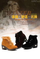 boots the winter female 2014 winter large size women's shoes 100% genuine leather women's boots Martin boots