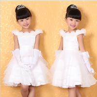 new arrival 2014 Child dress female child princess dress girls' wedding dress flower girl formal dress performance costume