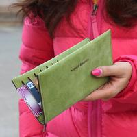 Wholesale 2014 New Women Fashion Designer Slim Genuine Leather Long Wallet Female High Quality 5 Colour Brand Purse Card Holder