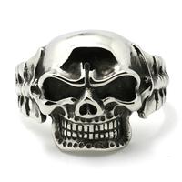 Mens Fashion Jewelry Huge&Heavy Sliver 316L Stainless Steel Skull Bangles Mens Boys Biker Bracelets Chain