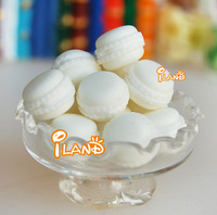 iland 1/12 Dollhouse Miniature Food Dessert Tea Time Snack French Vanilla Flavor Macaron 5 pcs  Free Shipping FC032G