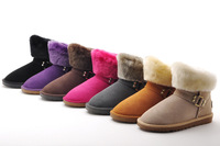 free shipping 2014 women new fashion snow boots ladies winter warm home shoes flat boots