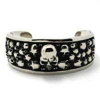 Mens Fashion Jewelry Biker Bracelets Chain 111g Huge&Heavy  316L Stainless Steel Slive Skull Bangles