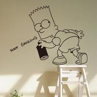 58*58cm Free Shipping Cartoon The Simpson Drink Kid Bedroom Living Room Decor Art Vinyl Wall Sticker Home Window Decor