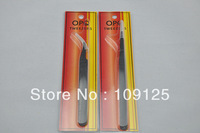 Pro. 2 pcs False Eyelash Extension Grafting eyelash tweezers curved straight NEW