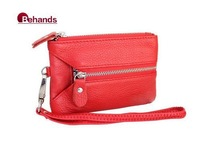 2014 Mini Wallets Genuine Leather Wallets Unisex Clutches Purses Money bags Card bag BH158+Free Shipping