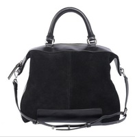 Fashion New winter handbags mixed colors black suede leather bag Woman Retro Shoulder Messenger Bag free shipping H392