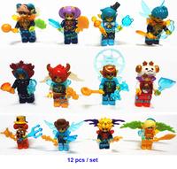 Hot Toy for Girl Building Blocks Brave Alliance 12 Heroscopes Figure Assembling Blocks Locker Kingdom Great Gift Free Shipping